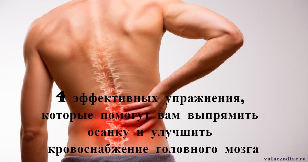 4 эффективных упражнения, которые помогут вам выпрямить осанку и улучшить кровоснабжение головного мозга